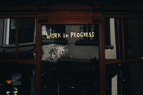 werk in uitvoering