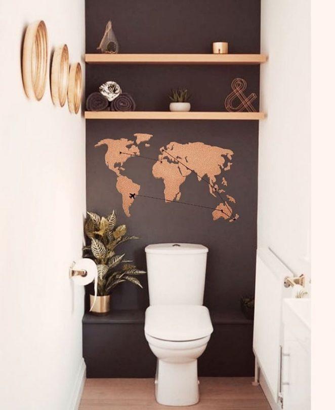 decoration simple toilette
