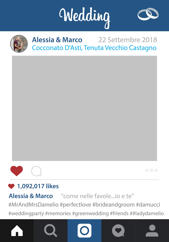 Cornice Instagram per Matrimonio