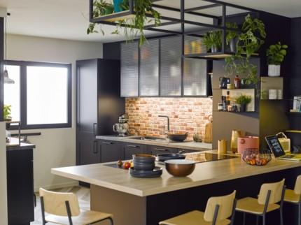 modèle cuisine noir
