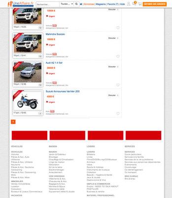 Vignette texte listing page