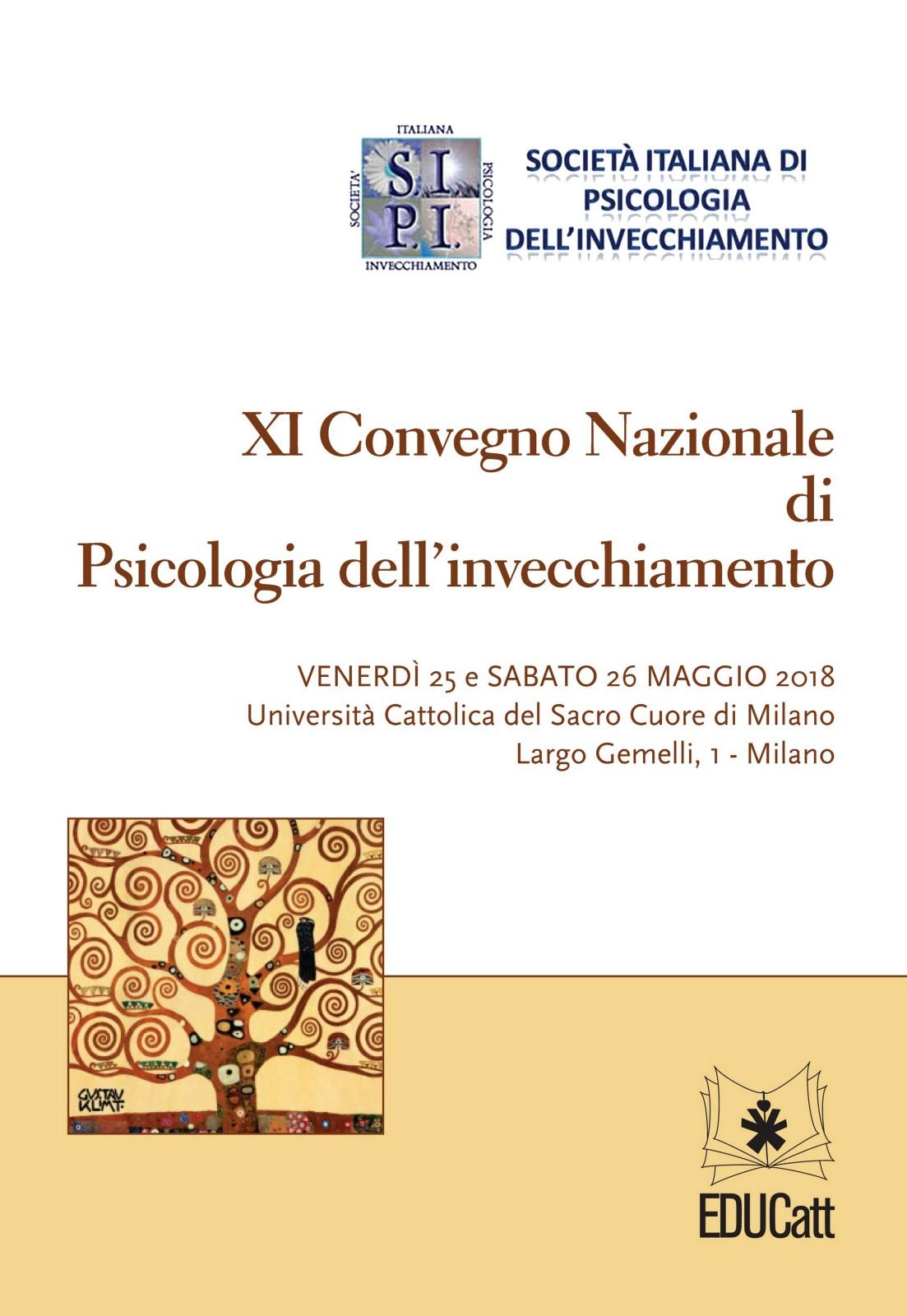 XI CONVEGNO NAZIONALE DI PSICOLOGIA DELL'INVECCHIAMENTO