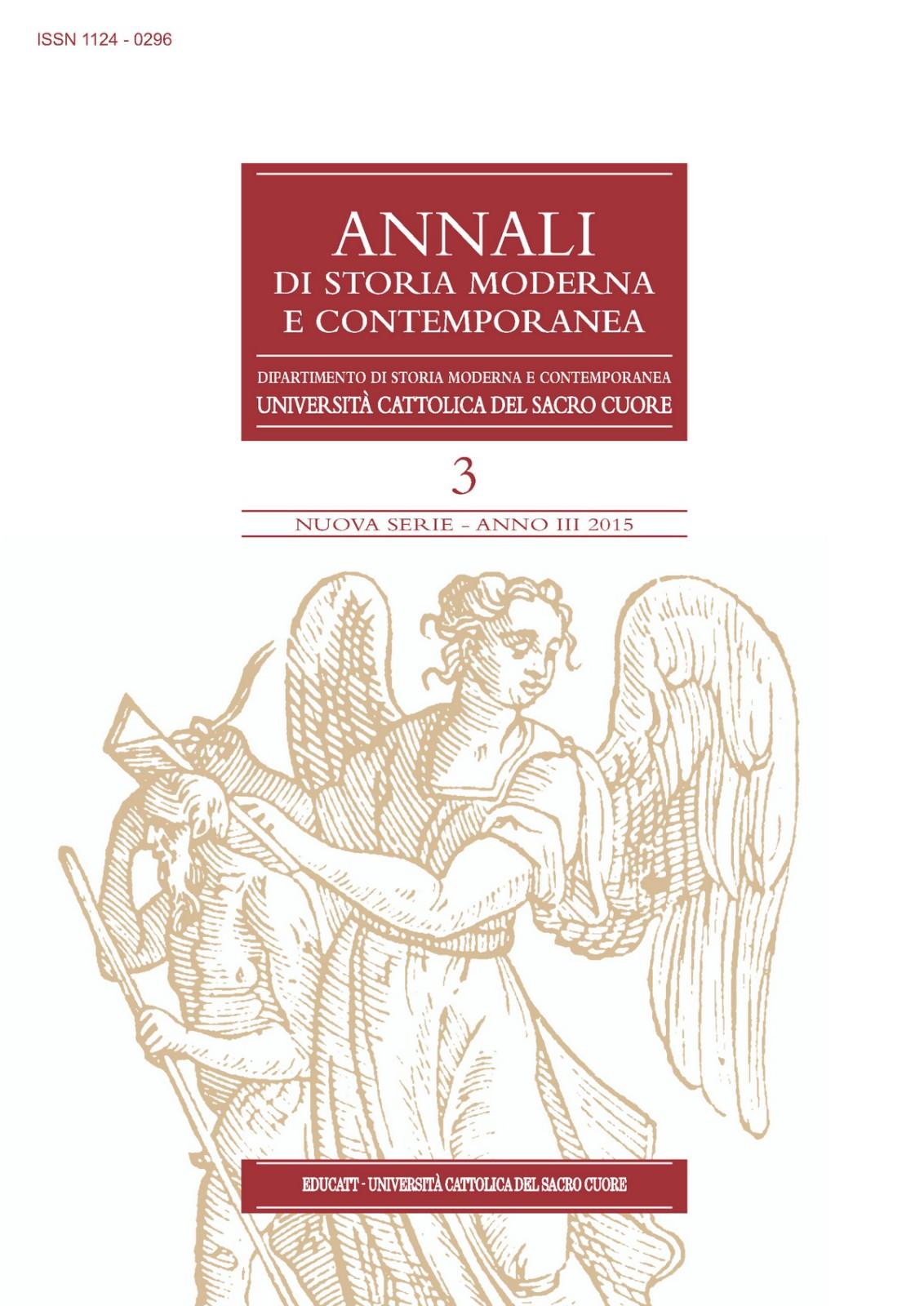 ANNALI DI STORIA MODERNA E CONTEMPORANEA 2015/3