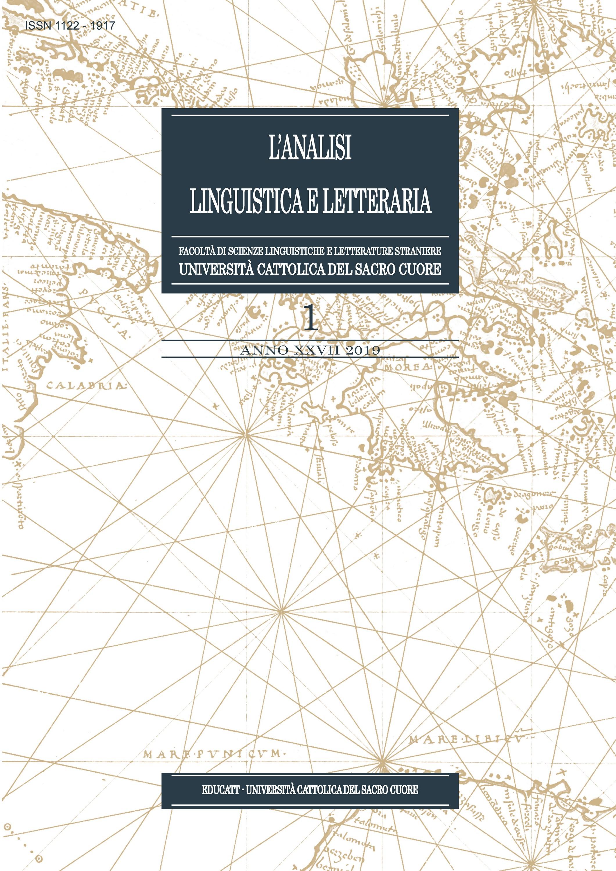 L'ANALISI LINGUISTICA E LETTERARIA 2019/1