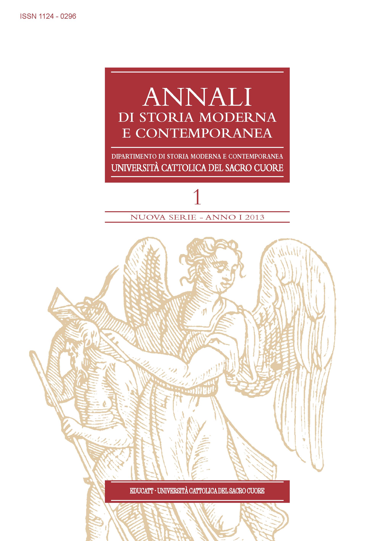 ANNALI DI STORIA MODERNA E CONTEMPORANEA 2013/1