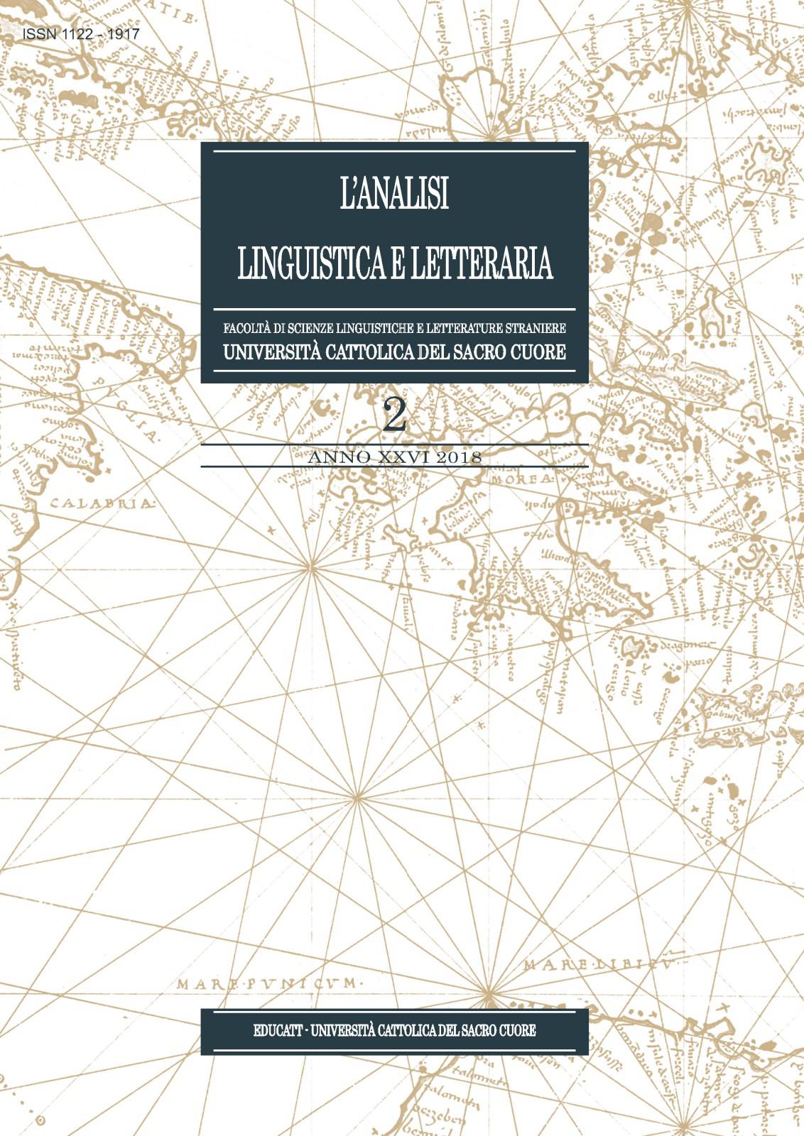 ANALISI LINGUISTICA E LETTERARIA 2018/2