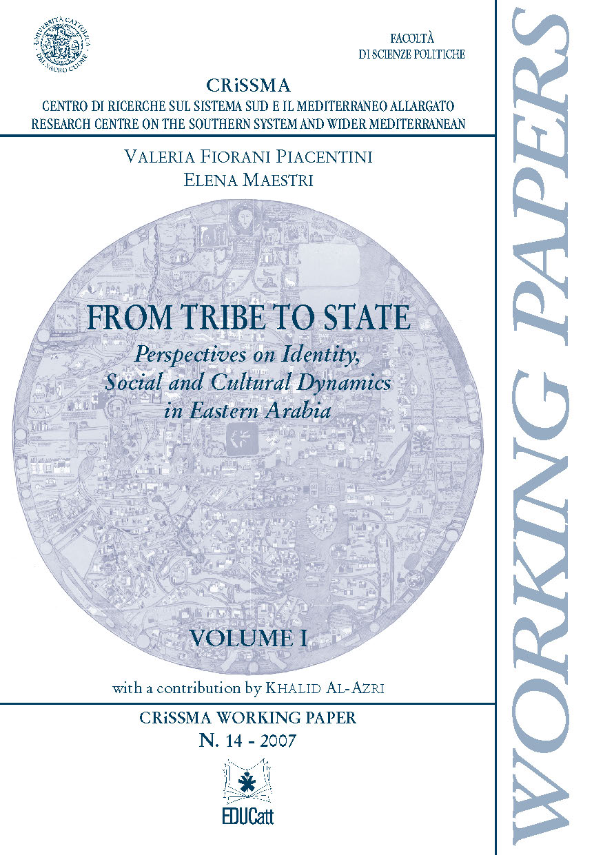 FROM TRIBE TO STATE. VOL. I. CRISSMA WORKING PAPER N.14