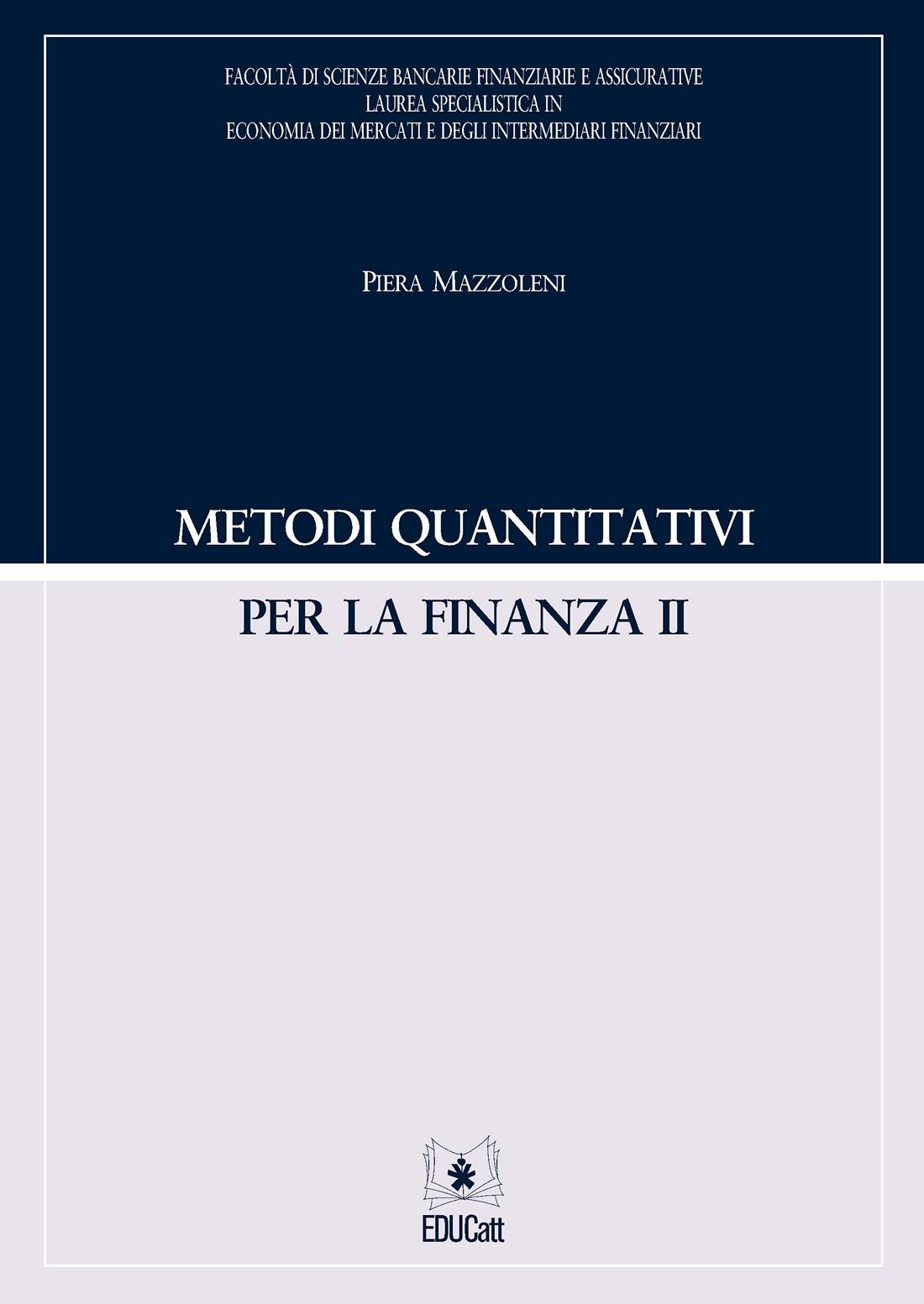 METODI QUANTITATIVI PER LA FINANZA II
