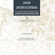 L'ANALISI LINGUISTICA E LETTERARIA 3/2019 SUPPLEMENTO