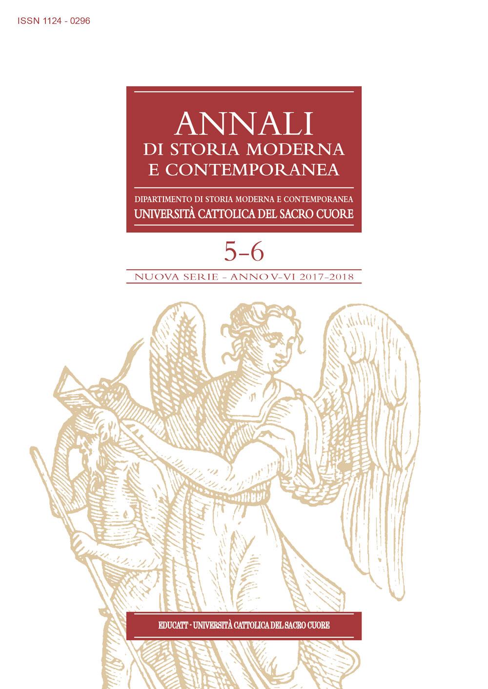 Annali di storia moderna e contemporanea (2017/2018) vol.5-6