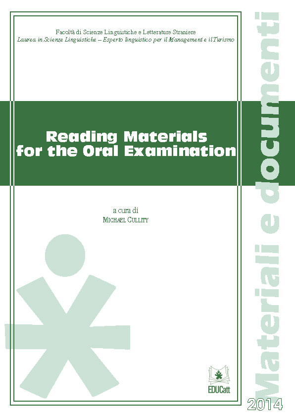 READING MATERIALS FOR THE ORAL EXAMINATION