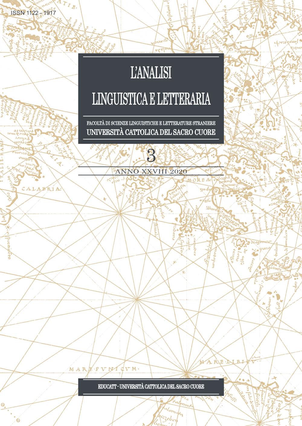 L'ANALISI LINGUISTICA E LETTERARIA 3/2020