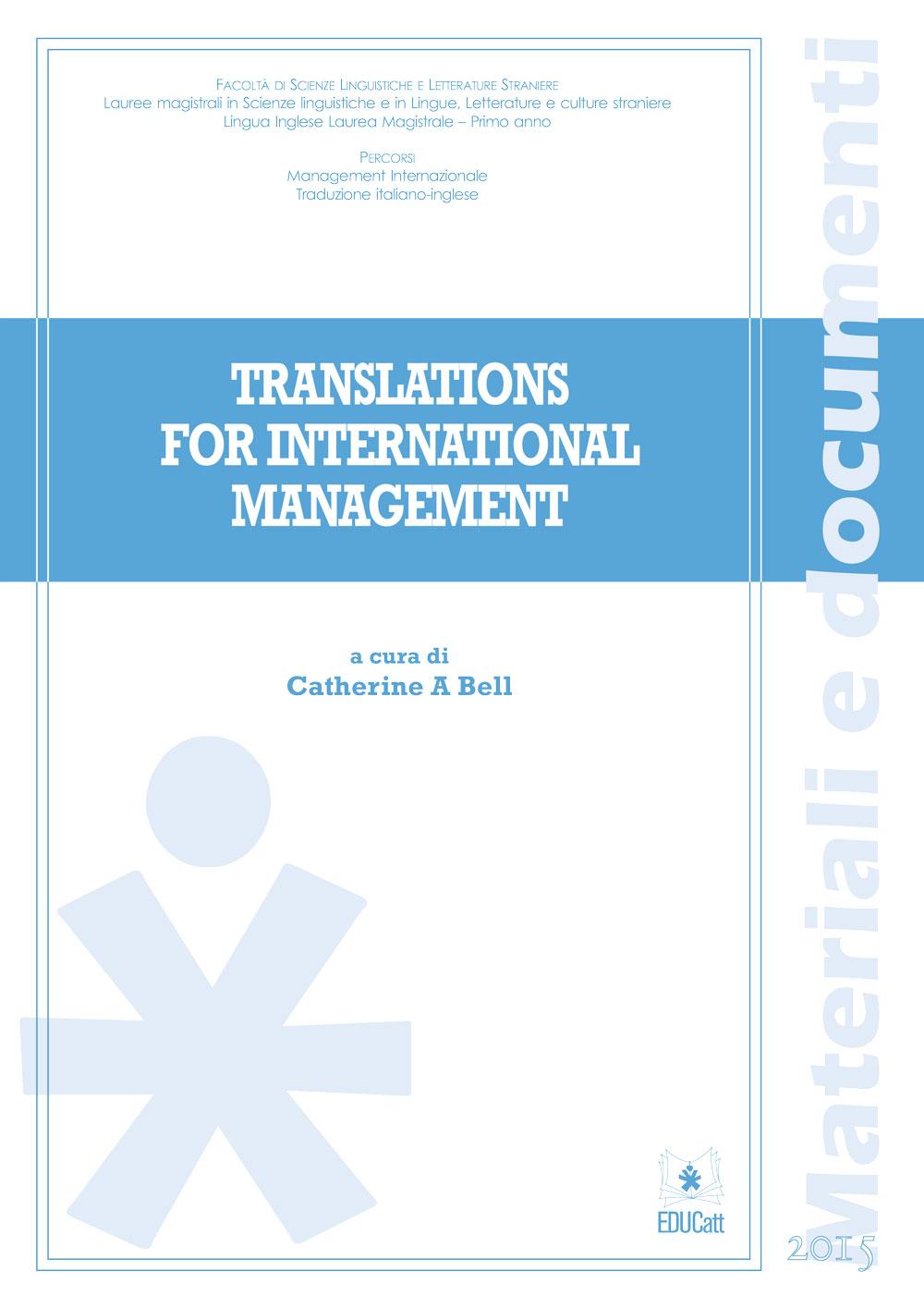 TRANSLATIONS FOR INTERNATIONAL MANAGEMENT
