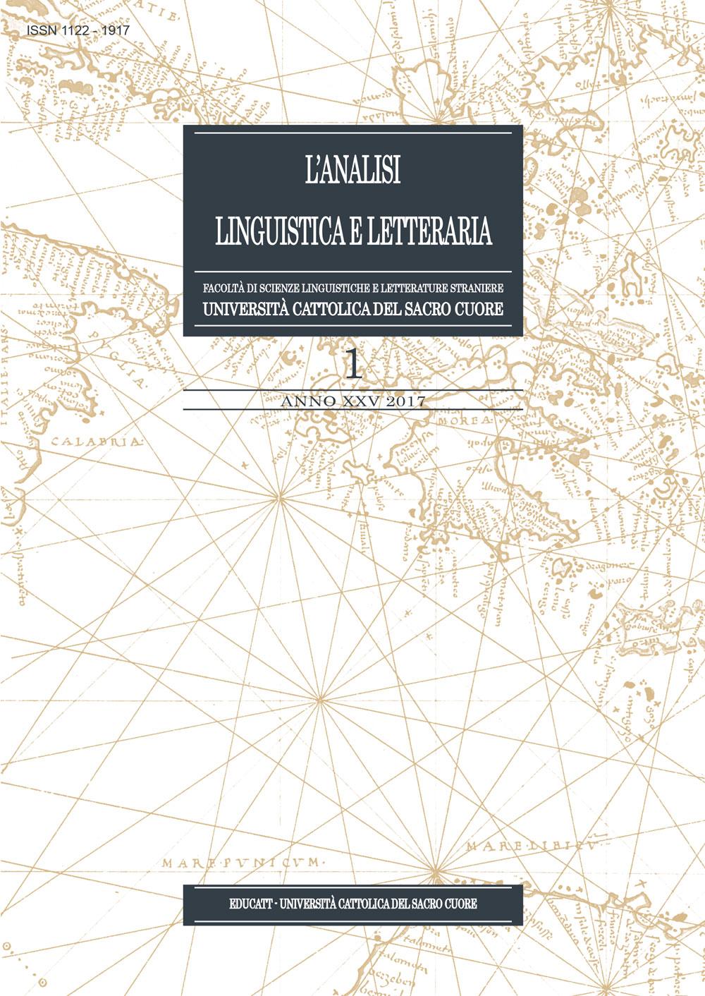 ANALISI LINGUISTICA E LETTERARIA 2017/1