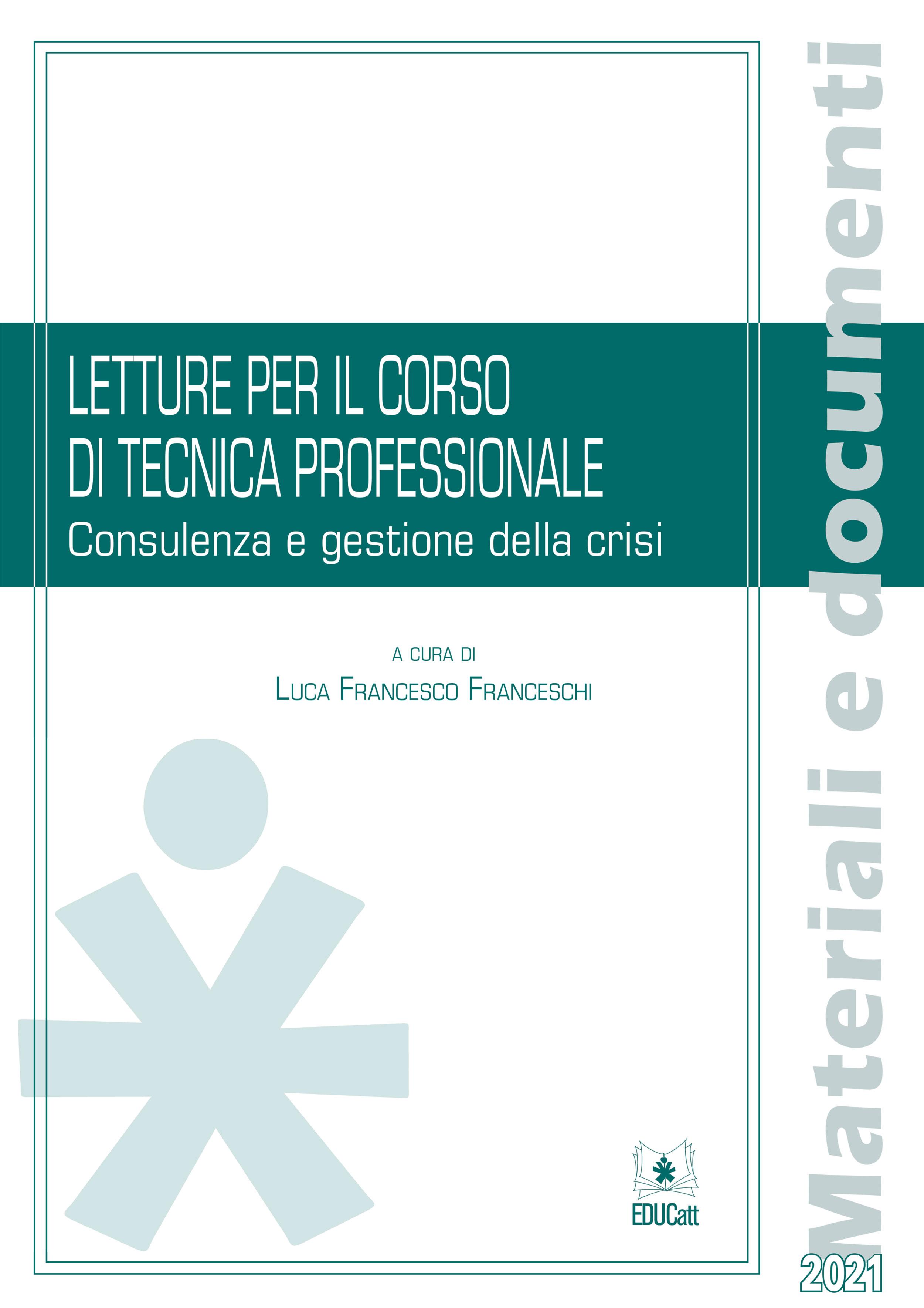 LETTURE PER IL CORSO DI TECNICA PROFESSIONALE 2021
