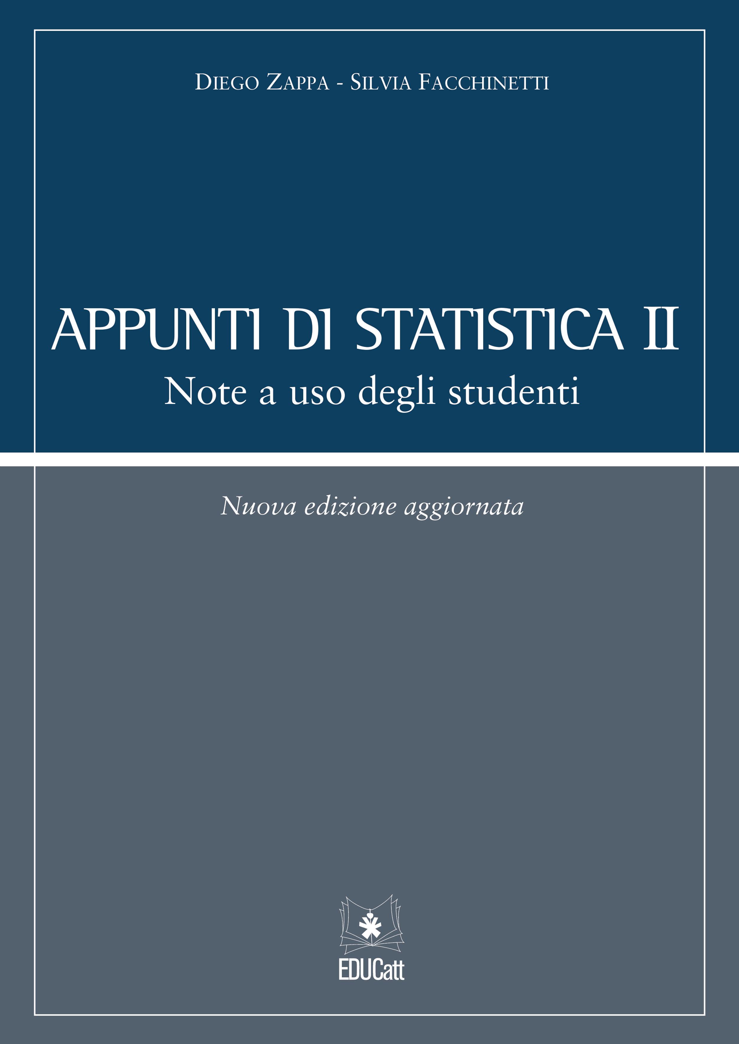 APPUNTI DI STATISTICA II - NOTE A USO DEGLI STUDENTI