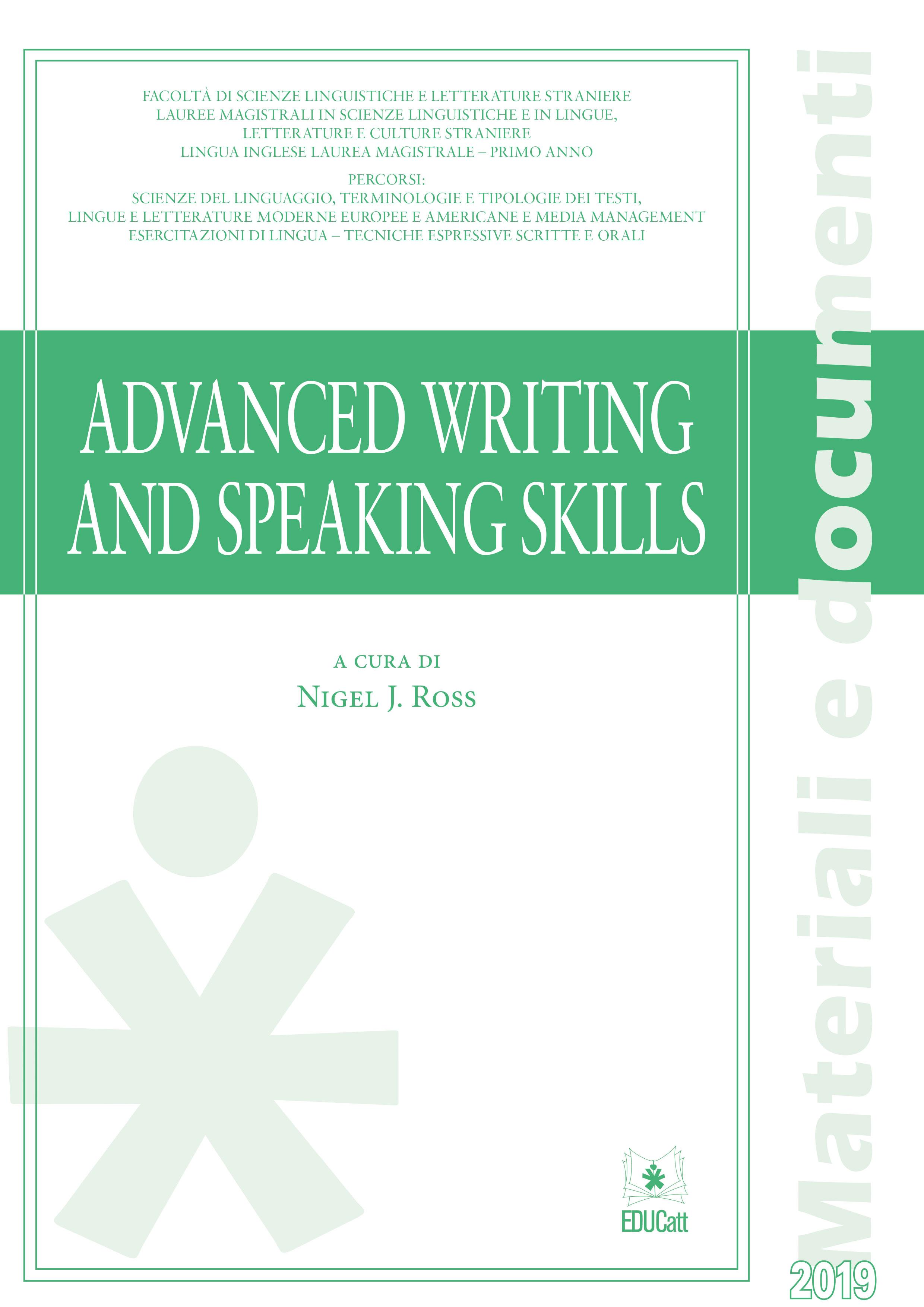 Advanced writing and speaking skills
