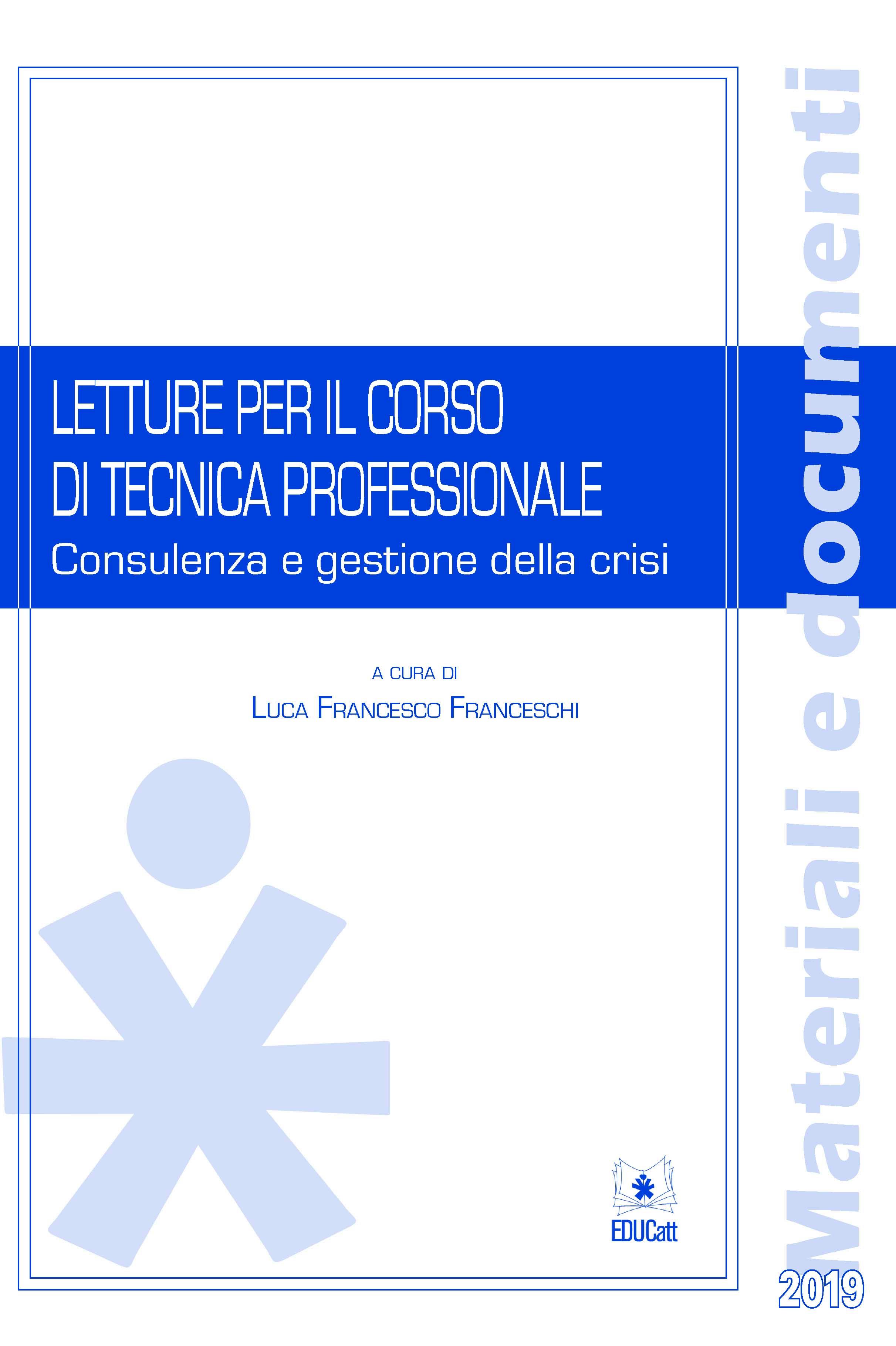 LETTURE PER IL CORSO DI TECNICA PROFESSIONALE 2019