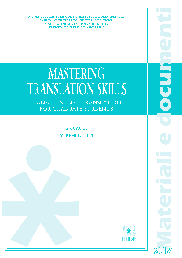 MASTERING TRANSLATION SKILLS 2018