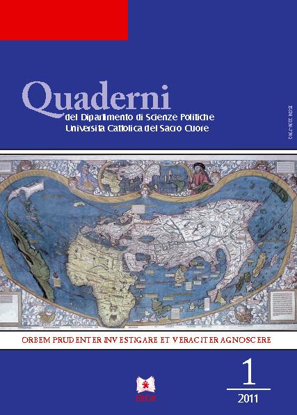 QUADERNI DEL DIPARTIMENTO DI SCIENZE POLITICHE VOL. 1/2011