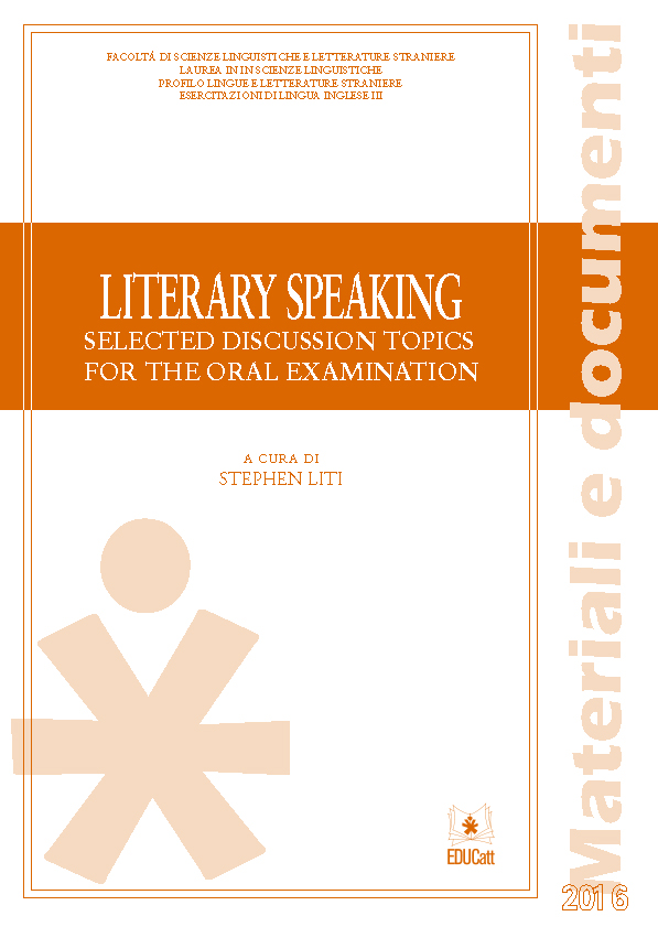 LITERARY SPEAKING. SELECTED DISCUSSION TOPICS FOR THE ORAL EXAMINATION