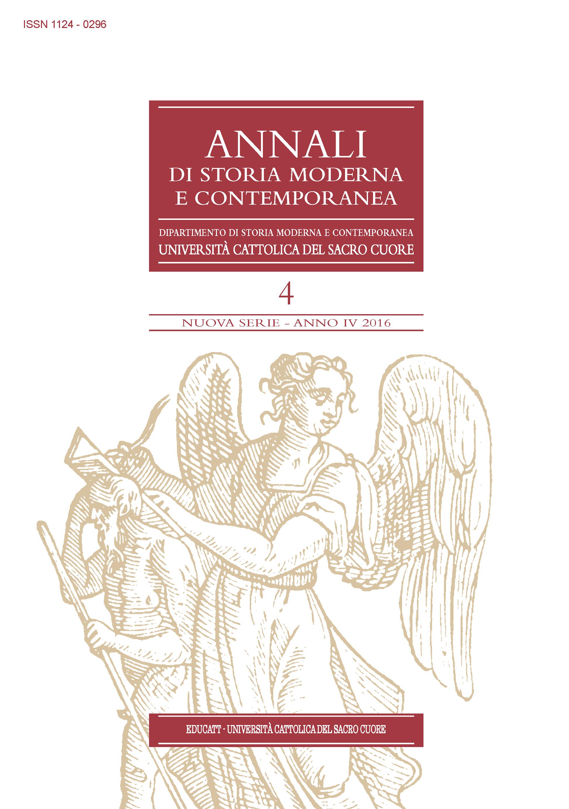 ANNALI DI STORIA MODERNA E CONTEMPORANEA 2016/4