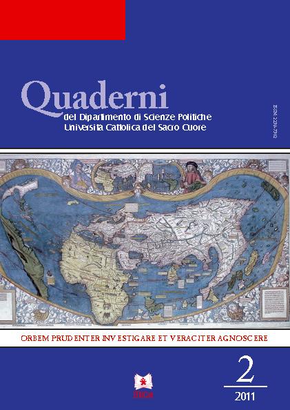 QUADERNI DEL DIPARTIMENTO DI SCIENZE POLITICHE VOL. 2/2011