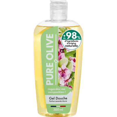 Pure Olive shower gel fragrance sweet almond 300ml
