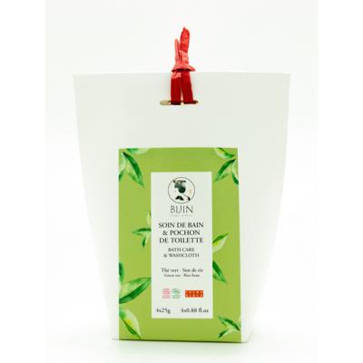 BATH INFUSION AND BATH CLOTH GREEN TEA-BRAN RICE