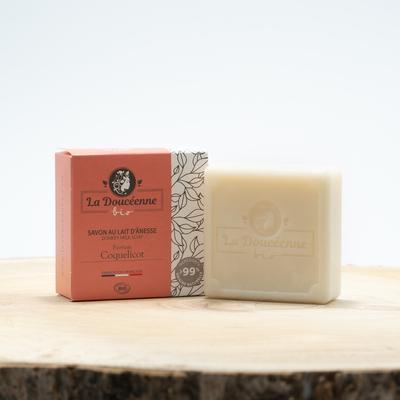 Organic donkey milk soap / poppy