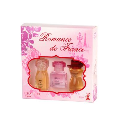 """""""Romance de France"""" Gift set of 3 Miniatures Eau de Parfum 33.6 ml"""