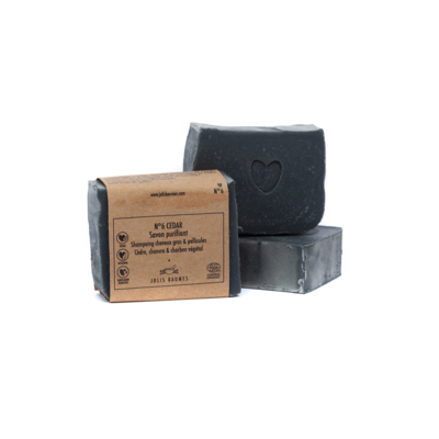 Soap 6 CEDAR, Surgras 6%, Made in Auvergne.
