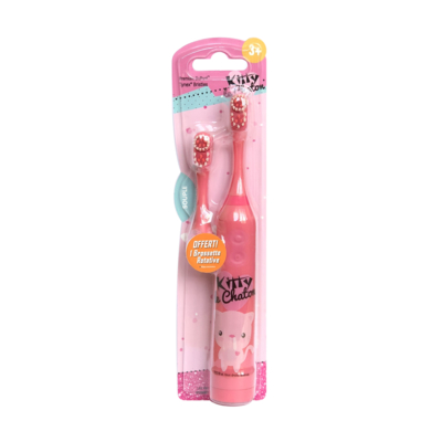 Electric rotating toothbrush with extra head Cutie Cats