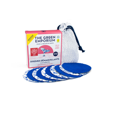 SET OF 10 CLEANSING ROUNDS + WASHING BAG