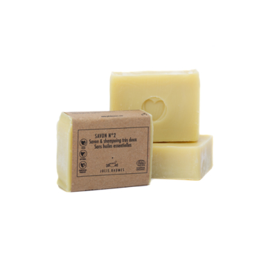 Soap No.2 CHOUCHOU, Surgras 6%, Made in Auvergne.