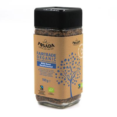 La Posada Mild Roast Organic Fairtrade Decaf Instant Coffee (100g)