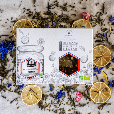 Set of Organic Nectar Honey and Organic Teas and Infusions
