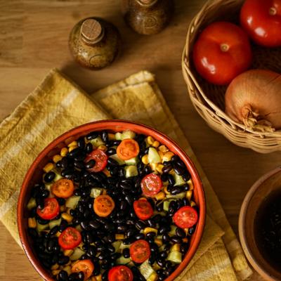 Black beans, with fresh aromatic herbs - Organic & Vegan - 400g