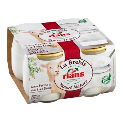 Le Yaourt Nature au lait de Brebis x4