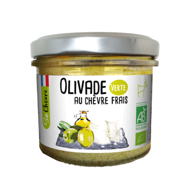 Green olive paste with fresh goat cheese