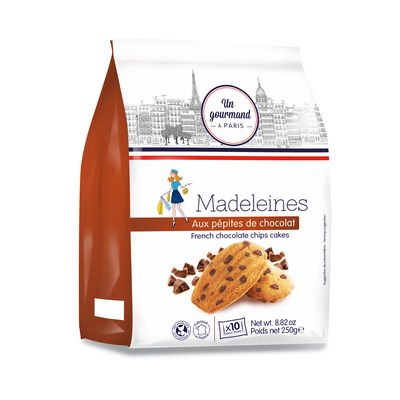 Madeleines with chocolate chips 250g