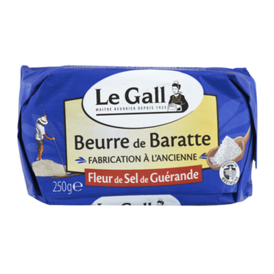 Beurre de baratte au sel de Guérande moulé 250g Le Gall