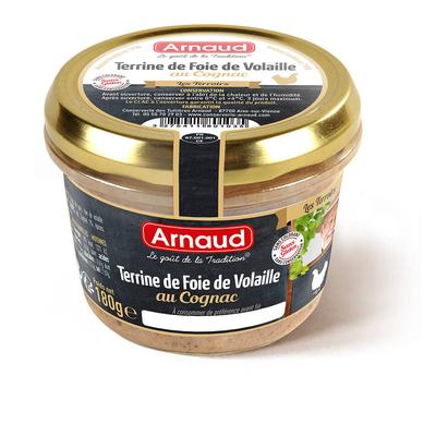 Poultry Liver Terrine with Cognac 180 g  / ARNAUD, Le Goût de la Tradition