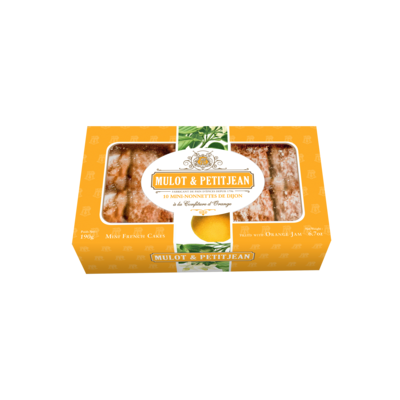 Box of 10 Mini Nonnette (french cake) filled with orange jam