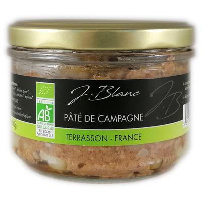 Organic campaign pâté, glass jar 180g