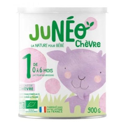 First stage infant organic goat milk powder JUNEO CHEVRE 1 - 900g tins