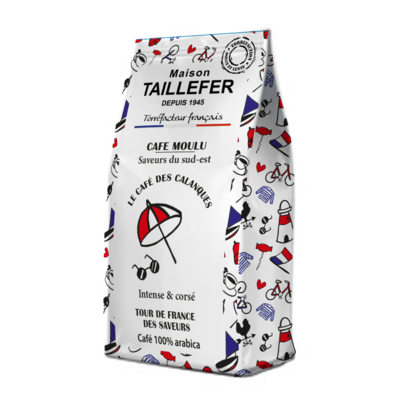 The Calanques coffee sachet 125g Maison Taillefer  ( SOUTH OF France)
