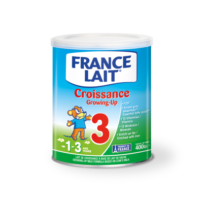 Infant formula FRANCE LAIT  From 1 to 3 years 400g tin