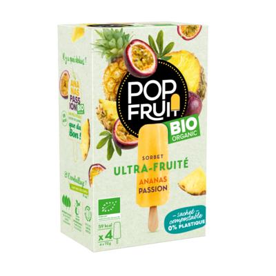 PopFruit Pineapple & Passion Fruit frozen sorbet pops