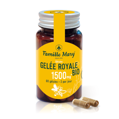 FOOD SUPPLEMENT - ORGANIC ROYAL JELLY CAPS - 1500MG